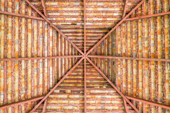 Коричневая детальная крыша Стоковые Изображения RF