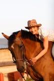 коричневая женщина лошади Стоковое Изображение