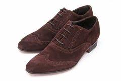 коричневая замша ботинок людей Стоковое фото RF