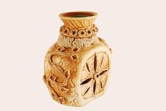 коричневая керамическая ваза Стоковые Фото