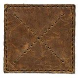 коричневая кожаная поцарапанная заплата Стоковые Фото