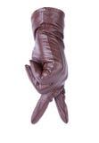 коричневая кожа для перчаток Стоковая Фотография RF
