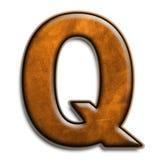коричневая кожа q Стоковая Фотография RF