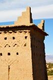 коричневая конструкция в Африке Марокко башня Стоковое Фото