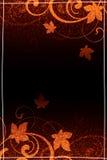 коричневая конструкция флористическая Иллюстрация вектора