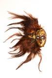 коричневая маска venetian стоковое изображение
