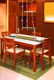 коричневая обедая таблица Стоковые Изображения