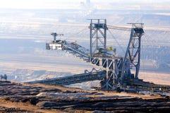 коричневая добыча угля открытая Стоковое Фото