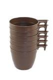 коричневая пластмасса кучи стекел Стоковое фото RF