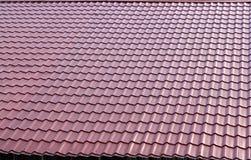 коричневая плитка крыши Стоковая Фотография