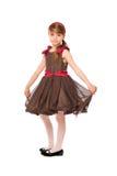 коричневая повелительница платья немногая симпатичное стоковое изображение