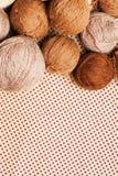 коричневая пряжа кучи картины Стоковая Фотография