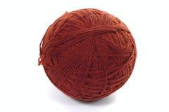 коричневая пряжа шерстей пасма Стоковые Изображения RF