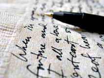 коричневая салфетка почерка Стоковые Фото