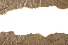 коричневая сорванная бумага Стоковое Фото