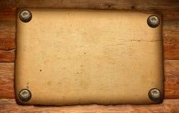 коричневая старая бумажная древесина текстуры Стоковые Фотографии RF