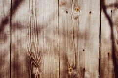 Коричневая старая деревянная текстура с узлом Стоковые Фотографии RF