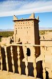 коричневая старая конструкция в террасе Африки Стоковое Фото