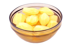 коричневая стеклянная картошка Стоковое Изображение