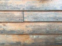 коричневая стена деревянная Стоковая Фотография RF