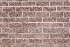 Коричневая текстура предпосылки стены блока современный builing Стоковые Изображения RF