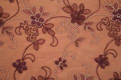 коричневая текстура тканья цветка Стоковое Изображение