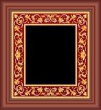 коричневая флористическая рамка Стоковое Изображение
