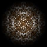коричневая флористическая роскошь Стоковое фото RF