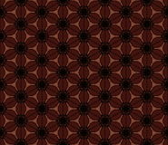 коричневая флористическая картина безшовная Предпосылка вектора, текстура кофейных зерен Стоковые Изображения
