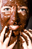 коричневейте девушку конфеты Стоковое Фото