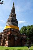 Коричневое каменное chedi в Ayutthaya Стоковые Изображения RF