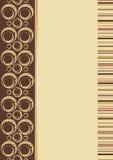 коричневое название страницы Иллюстрация вектора