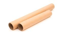 2 коричневое опорожняют крены Стоковое Изображение