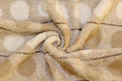 коричневое полотенце terry ткани Стоковая Фотография