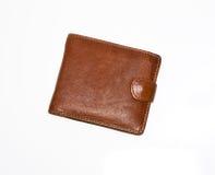 коричневое портмоне стоковое изображение rf