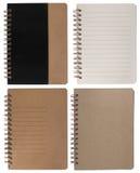 коричневое право страницы блокнота Стоковое Фото