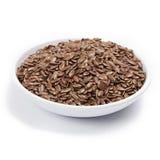 коричневое семя льна Стоковое Фото