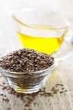 коричневое семя масла льняного семени льна Стоковое Изображение RF