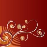 коричневое флористическое Стоковая Фотография RF