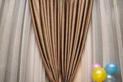 коричневое portiere Стоковое Фото