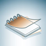 коричневое ringbook офиса Стоковое Изображение