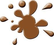 коричневое splodge краски Стоковое фото RF
