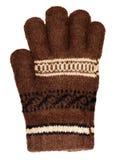коричневой шерсти изолированные перчаткой белые стоковое фото rf