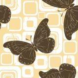 коричневые бабочки Иллюстрация штока
