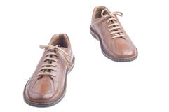 коричневые ботинки людей стоковые фото