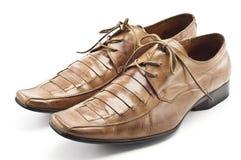 коричневые ботинки людей s Стоковые Фото