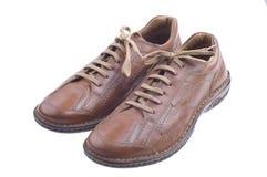 коричневые ботинки людей Стоковое Фото