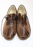 коричневые ботинки пар Стоковое фото RF