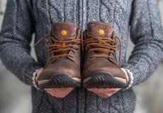 коричневые ботинки пар Стоковые Фото