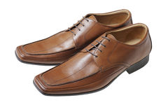 коричневые ботинки Стоковое фото RF